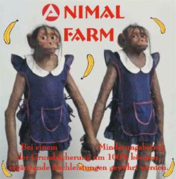 Animal Farm(auch Arbeitsamt, Hartz4, Jobcenter oder 'die Kunst, eine Bettelkultur zu errichten') - Bei einem Minderungsbetrag der Grundsicherung um 100% können ergänzende Sachleistungen gewährt werden.