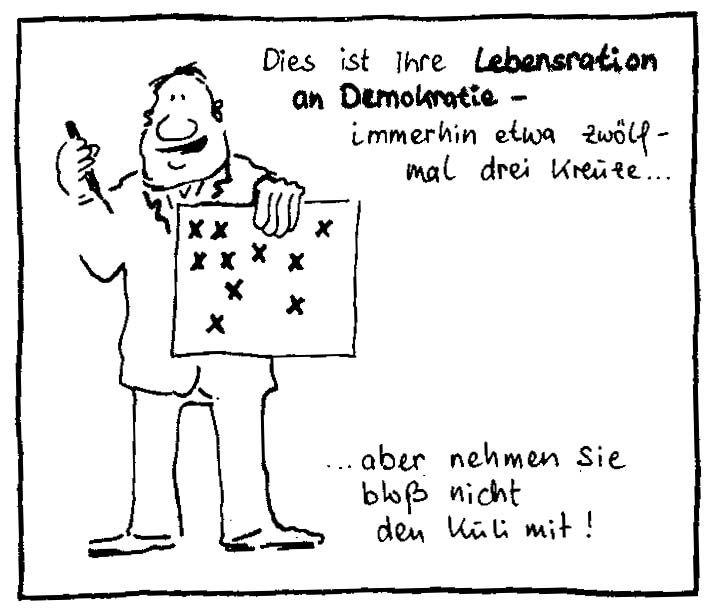 Demokratie Lebensration von Norbert Nelte
