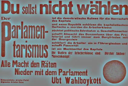 Plakat der Kommunistischen Arbeiter-Partei + allgemeine Arbeiter-Union, 1919