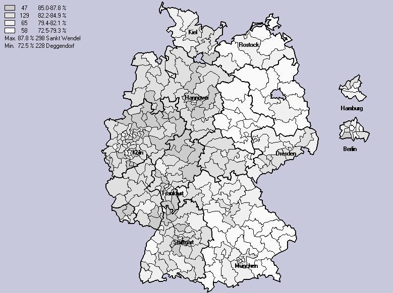 Wahlbeteiligung 1998
