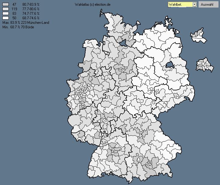 Wahlbeteiligung 2005